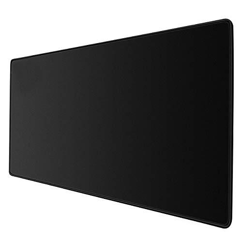 JIALONG Tapis de Souris Multifonction Gaming Mousepad XXL Grand sous Main Bureau 900x400x3mm pour Ordinateur, Bureau Gamer - Noir