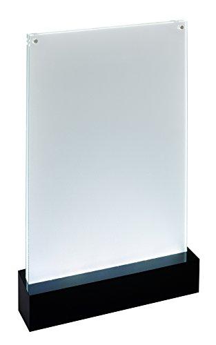 SIGEL TA420 Beleuchtbarer LED-Tischaufsteller für DIN A4, glasklar/schwarz, Acryl - weitere Größen