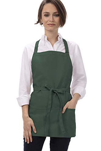 Chef Works unisex adult Three Pocket Apron apparel accessories, Hunter Green, 24-Inch Length by 28-Inch Width US