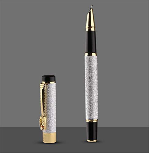 Polierte Tusche Tintentasche Jazz Silber Gebogener Kugelschreiber