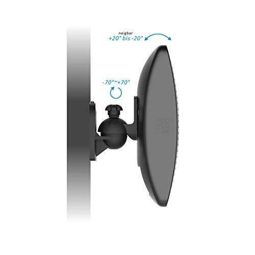 deleyCON 4X Support Mural Universel pour Enceintes Fixation de Boîtes Rotation + Inclinaison Résistant à Une Charge Max. 3,5kg Montage Mural + Montage au Plafond - Noir