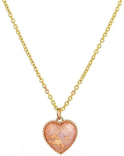 Collar para mujer, hombre, collar, romántico, dulce, colorido, en forma de corazón, colgante, cadena de eslabones, collares para mujeres y niñas, accesorios de compromiso de boda, joyería, collar colg