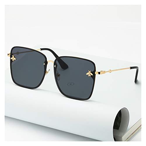 2021 Lady Oversize Oversize Rimless Square Bee Sunglasses Mujeres Hombres Pequeñas Gafas de Abeja Gradiente Gafas de Sol Mujer UV400 (Lenses Color : C1)