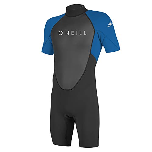 O'Neill Wetsuits Men's Reactor-2 2mm Back Zip Spring Wetsuit, Black/Ocean, XL