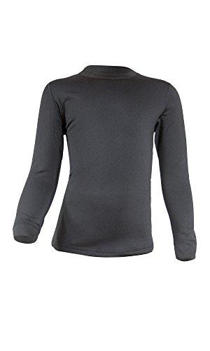 Gwinner Kinder Warmline Thermo-Funktionsunterwäsche Langarm Shirt, schwarz, 140/146