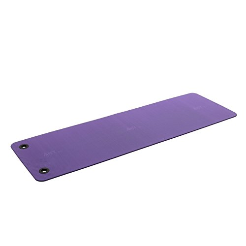 AIREX Pilates 190, Gymnastikmatte, lila, mit Spezial-֖sen, ca. 190 x 60 x 0,8 cm