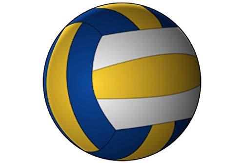 Volleyball Schlüsselanhänger Ball weiß gelb blau 4cm | Geschenk für Frauen | Männer | Kinder | Sport | Ballsport |