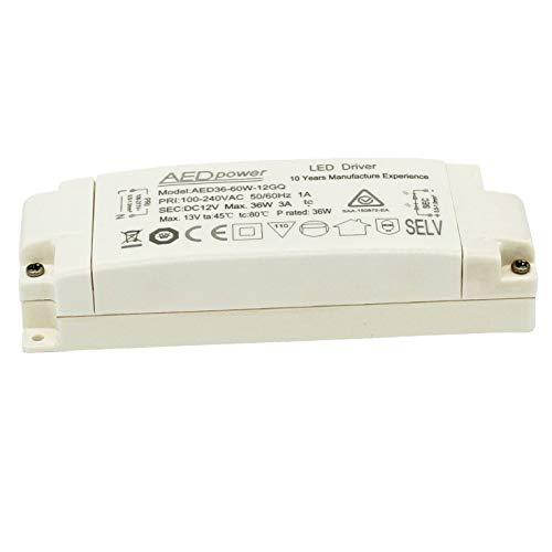LED Trafo 230V auf 12V DC 36W LED Treiber Driver 36W für MR16 G4 MR11 Lichtschrank Lampe LUOKOED®