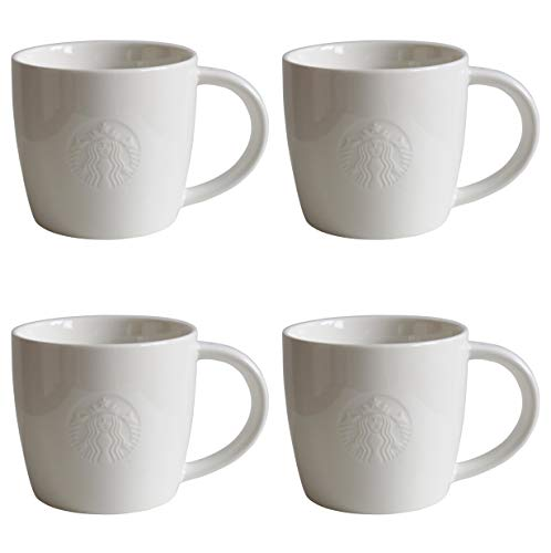 Starbucks Mug Short Fore Here Serie Weiss Collectors Set Varianten (4, Short/8oz/227ml)