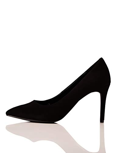 find. Wide Fit Point Court Shoe Scarpe col Tacco Punta Chiusa, Nero Black), 36 EU