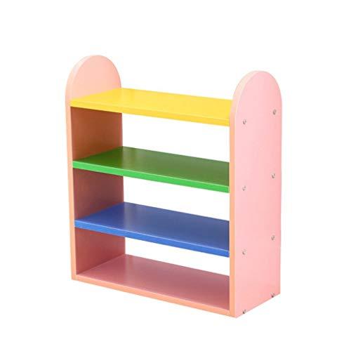 Schlichter und preiswerter Schuhschrank Kleiner Schuhregal für Kinder aus Kunststoff (Farbe : Pink)