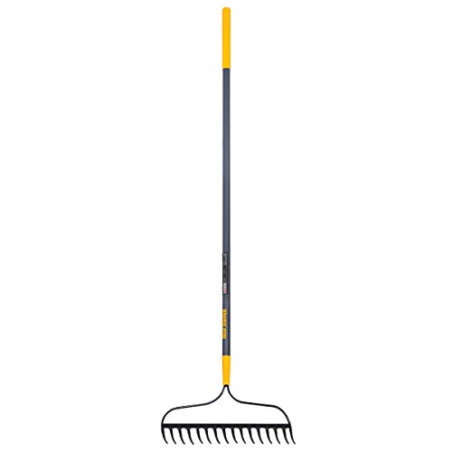 True Temper 2811500 Steel 16-Tine Bow Rake with 57 in. Fiberglass Handle with Cushion Grip, 16 Inch