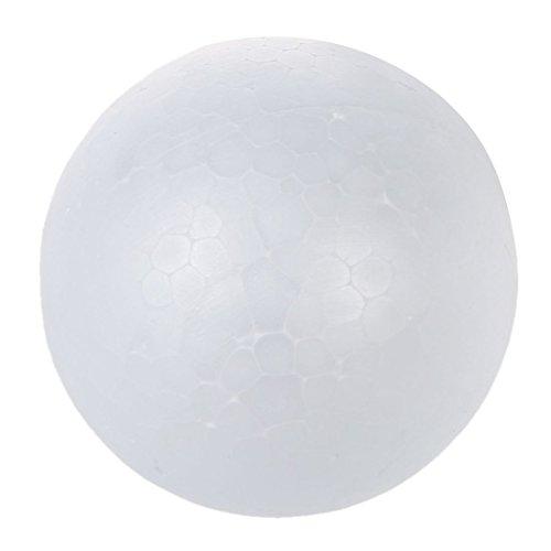 TOOGOO(R)10 x 7cm polistirolo sfera sfera Ornamento Decorazione Bianco