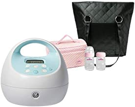 Spectra Baby USA - S1 Plus Premier Rechargeable Electric Breast Pump Bundle, Double/Single, Hospital Strength - with Black Tote and Pink Cooler