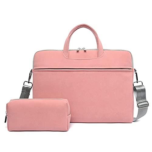 ZPDD Bolso para Ordenador portátil de Cuero PU 13,3 14 15,6 Funda para portátil de 16 Pulgadas para Macbook Air Pro, Bolso de Hombro para Ordenador, maletín para Mujer