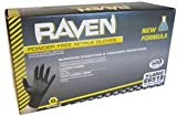 SAS Safety 66519 Raven Powder-Free Nitrile Disposable Glove, X-Large, 6 mil Thick (Pack of 100) Pack of 3