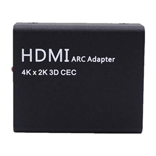 Mogzank Adaptador ARC una ARC 4Kx2K Convertidor una ARC Adaptador de Retorno de Audio óPtico para Computadora PortáTil, DVD, Consolas de Juegos