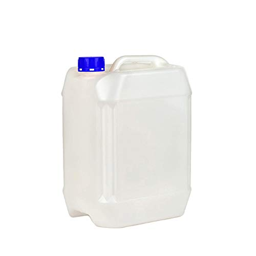 Kanister mit Deckel PE natur, 10l, Leerkanister für Epoxidharz, Lacke, Farben, Öl, Säure, Trinkwasser - lebensmittelecht