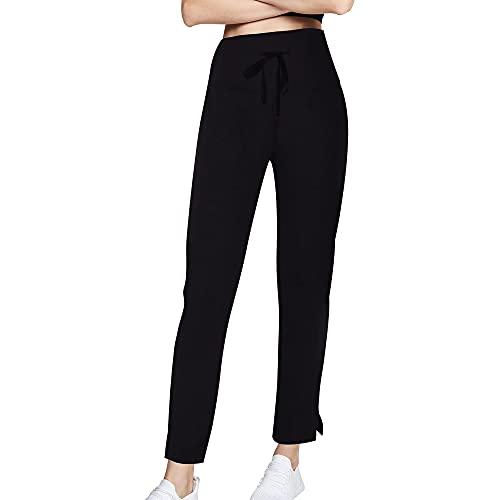 3W GRT Pantalones De Yoga para Mujer, Pantalones De Yoga, Pantalones Casuales De Yoga con Cordón para Yoga y Correr (Negro, L)