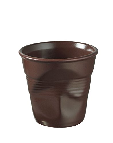 Revol froissés Chocolate 1pc (s) Cup/Mug – Cups & Mugs (Single, 0.08 l, Chocolate, Porcelain, 1 pc (s), 60 mm)