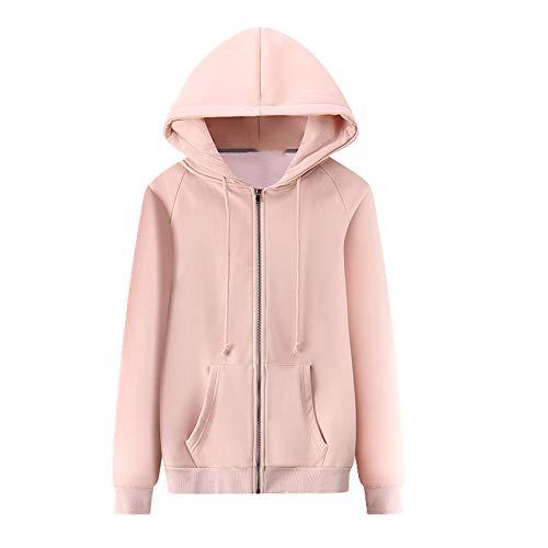 N\P Damen Jacke Reißverschluss Sweater Cardigan Plüsch Gr. S, Babypuder