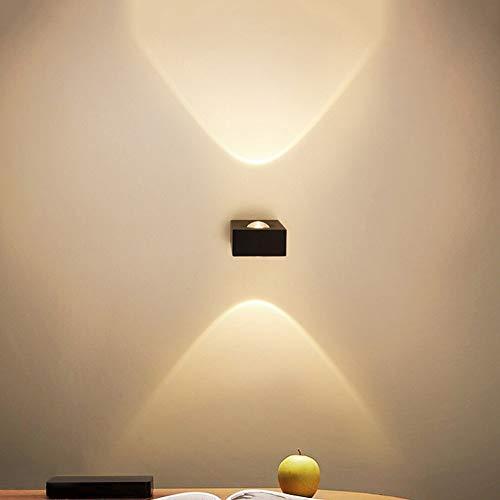 Wandlamp - mini wandlamp naar boven en beneden 6 W LED modern warm licht van aluminium wandlamp slaapkamer woonkamer wandlamp spotlight DIY combinatie wand licht 111V ~ 240V 3.1