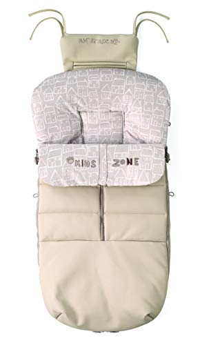Jané 080473 T25 - Saco para silla Nest Plus, Color Granola Polipiel, Interior Polar, Impermeable, Universal, con Cremallera