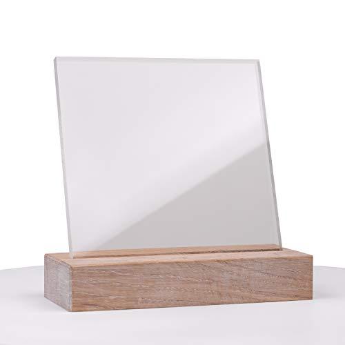 DOLLE Acrylglas XT | Zuschnitte |Stärke 2 mm | Glasklare Platte in 750 x 500 mm | Kanten unbearbeitet | Für Innen und Außen | UV-Stabil | PMMA |