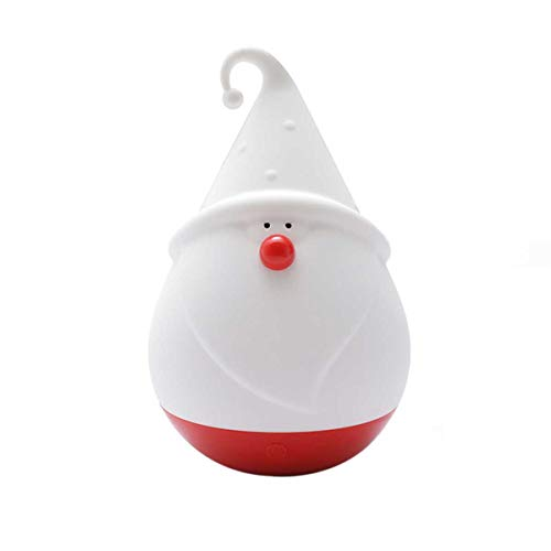 CADIAL Christmas Santa Night Lights, Led Nursery Lamp with Touch Sensor, Adjustable Brightness Silicone Baby Night Light (White, One Size)