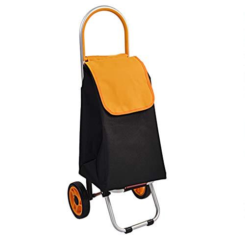 ZGF Trolley Einkaufswagen Kleine bewegliche helle Grocery Shopping kleinen Wagen zusammenklappbare Anhänger-Haus