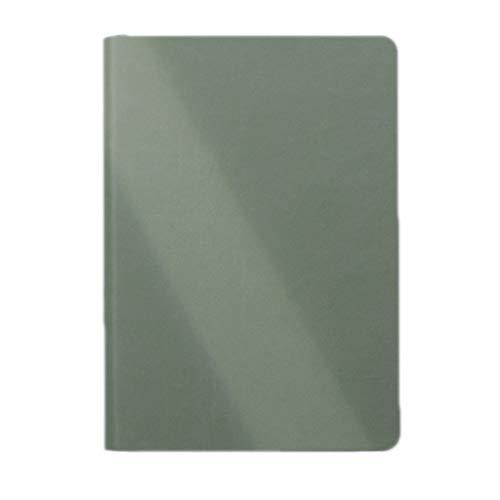 BIAOYU Cuaderno de superficie suave A5 de poliuretano con matriz de puntos, diario simple retro, 100 g, color beige, tono de 5 x 5 mm, 180 grados