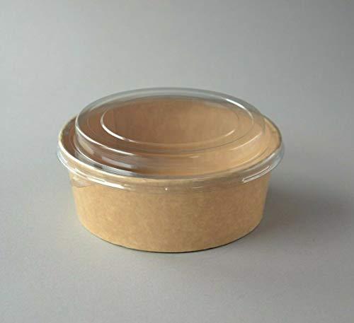 Bio Salatschalen Bio Kartonschale mit Deckel 1140ml / 38OZ Salatbecher Kraft 200 Stück