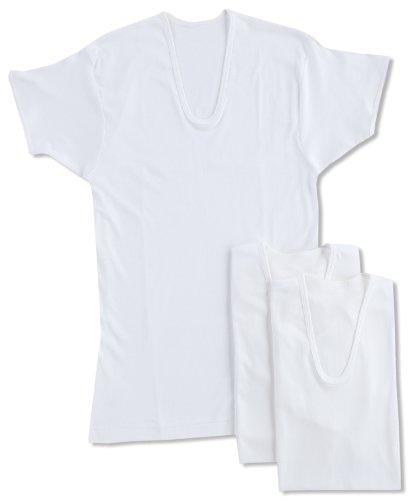 [グンゼ] インナーシャツ 良品紀行 綿100% 半袖U首 3枚組 SV31163 メンズ ホワイト 日本LL (日本サイズ2L相当)
