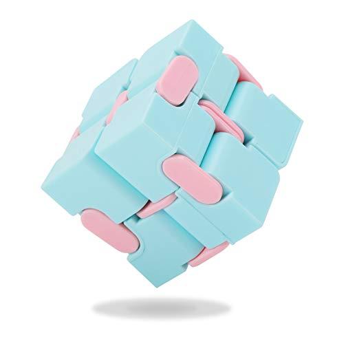 Popuppe Unendlichkeitswürfel Cube Für Kinder Und Erwachsene dekompression spielzeug Mini Kill Time Spielzeug Unendlicher Würfel Für Kinder(Blue)