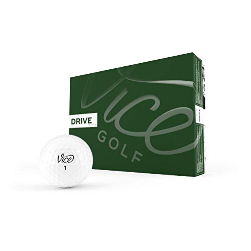 Vice Golf Drive White 2020 | 12 Golf Balls | Features: Extremely Durable, More...