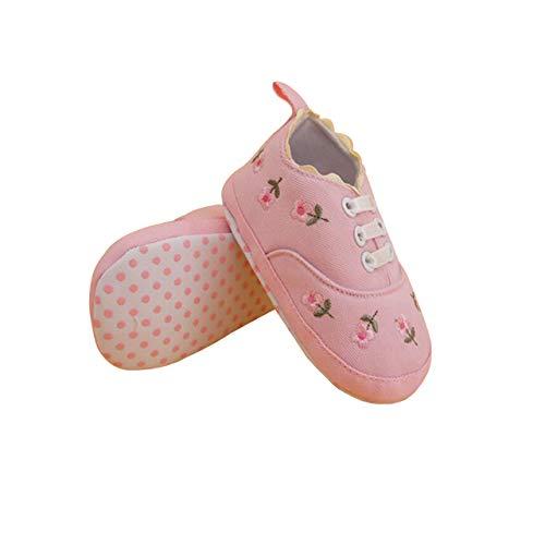 DEBAIJIA Kleinkind Schuhe Baby Mädchen Baumwolle Babyschuhe Sneakers mit weichen und rutschfesten Sohle Für 6-18 Monate Gummiband Slip-On-Verschluss Stickerei