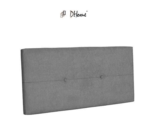 DHOME Cabecero de Polipiel o Tela AQUALINE Pro cabeceros Cabezal tapizado Cama Tela Gris, 110cm (Camas 80/90/105)
