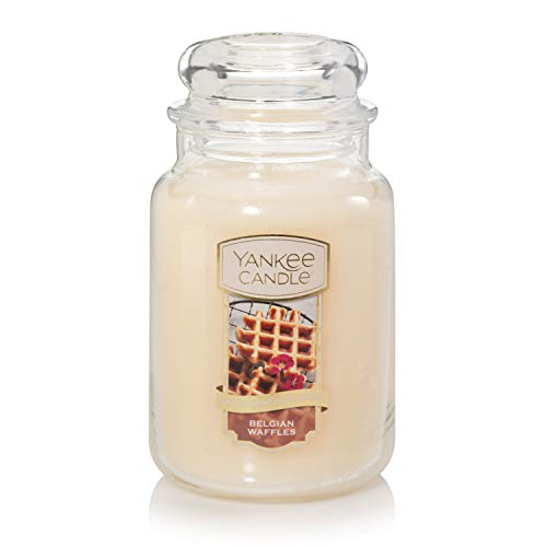 Yankee Candle Belgian Waffles, The Sunday Brunch Collection, Classic Glass Jar Candles, Large 7...