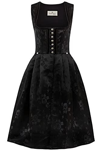 Stockerpoint Damen Dirndl Odette Kleid für besondere Anlässe, schwarz, 42