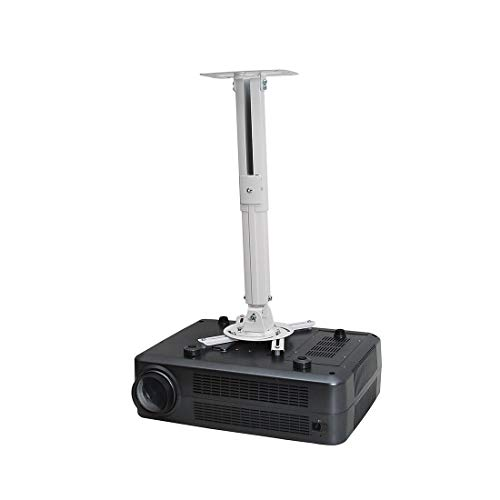 "Loctek PT2 LCD/DLP Projector Ceiling Mount Bracket Fits max. 12.3"" Weight Capacity 13lbs Both Flat and Vaulted Ceiling"