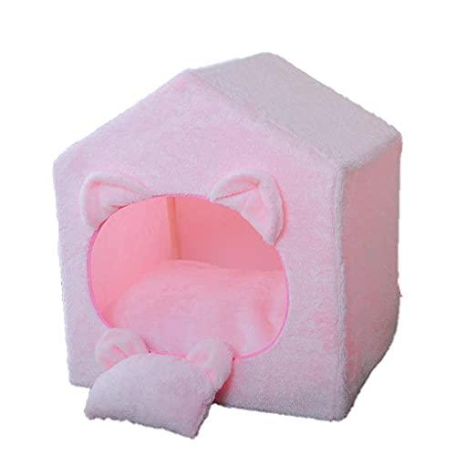 Casa semicerrada para mascotas creativa cama para mascotas extraíble almohadilla interior adecuada para nidos de mascotas pequeñas y medianas que se mantienen calientes en invierno