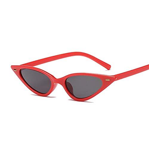 AleXanDer1 Gafas de Sol Transparente Rojo púrpura Ojo Ojo Gafas de Sol Mujeres pequeño diseño diseño Gafas de Sol Hembra Jalea Color Lindo Sexy Negro (Lenses Color : C1)