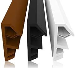 Vensterafdichting bruin 25m - 4mm groefbreedte / 12mm vouw van TPE hoogwaardige rubberen afdichting houten venster afdicht...