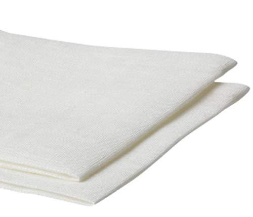 Amazinggirl - Tela de algodón por metros, color blanco, 100% algodón, 1,6 m x 1 m, tejido para costura, tejido de algodón liso Öko-Tex Standard 100