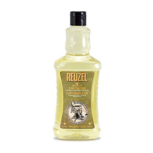 Reuzel 3-In-1 Tea Tree Shampoo & Conditioner & Body Wash, 1000 ml