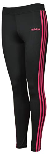 adidas Mädchen Performance Tight 3-Streifen Leggings - Schwarz - Groß