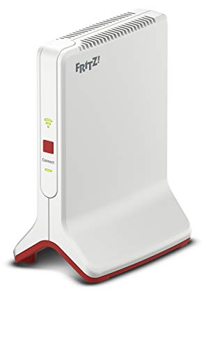 AVM Fritz!WLAN Repeater 3000 International AC+N WLAN Repeater/Extender Tribanda (1.733 Mbps en 886 Mbps/5 GHz, WiFi N, mesh, WiFi Access Point, 2 gigabit LAN-poorten, WPS, internationale versie)
