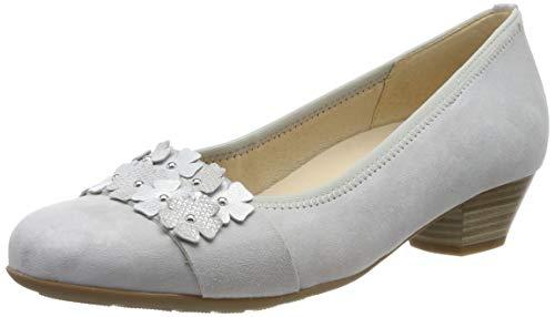 Gabor Shoes Damen Comfort Basic Pumps, Grau (Light Grey/Silber 40) 40.5 EU