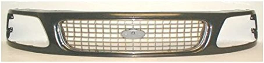 Grille Grill Chrome Black & Silver Front End for 97-98 Ford F150 F250 Expedition