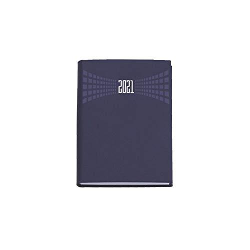 Agenda 2021 bigiornaliera 7x10 cm tascabile copertina matra' 2 giorni per pagina (Blu)